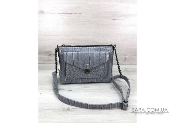 Стильная сумка  Rika серо-голубая WeLassie