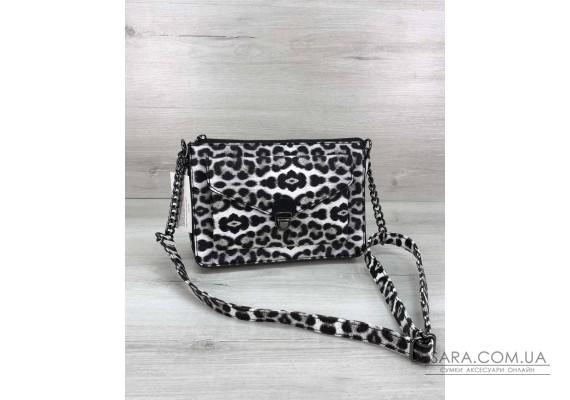 Стильная сумка  Rika черно-белый леопард WeLassie