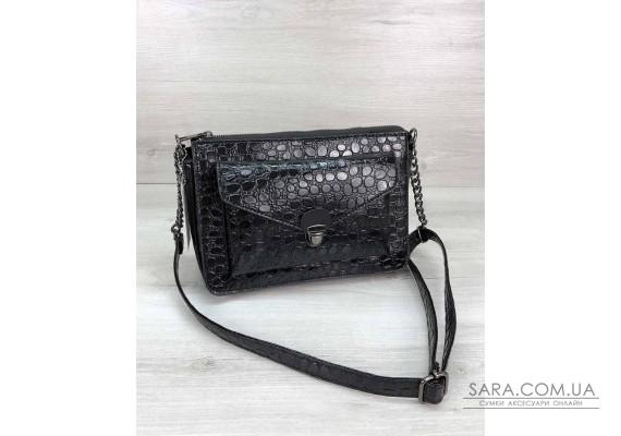 Стильная сумка  Rika черный лак WeLassie