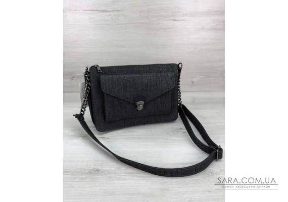 Стильная сумка  Rika черный блеск WeLassie
