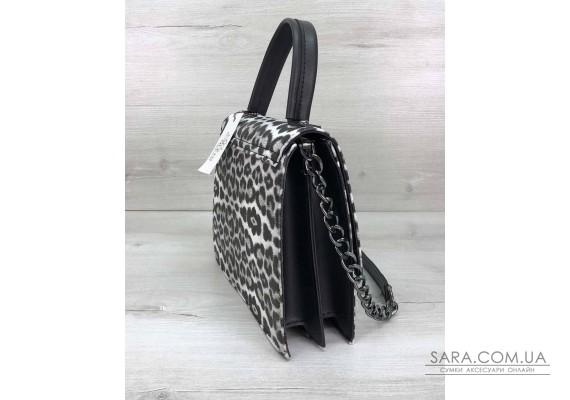 Жіноча сумка Lana чорно-біла WeLassie