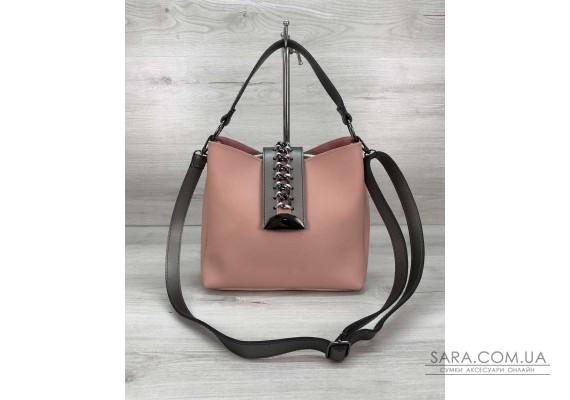 Женская сумка Сати пудра WeLassie