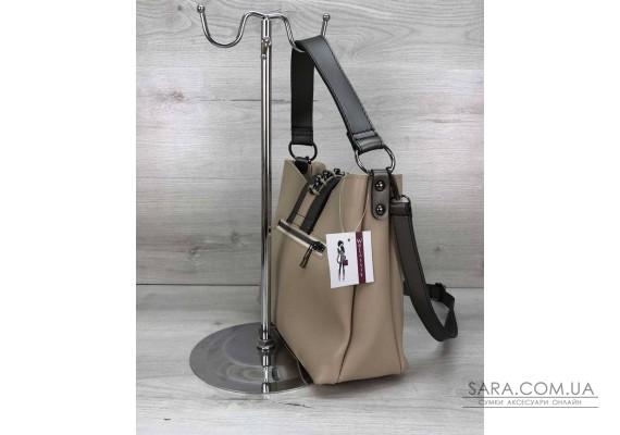 Женская сумка Сати бежевого цвета WeLassie