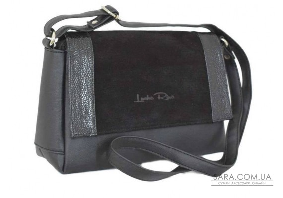 456 сумка замш черная Lucherino