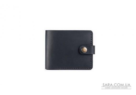 Шкіряний чоловічий гаманець Compact чорний Art Pelle Crazy Horse