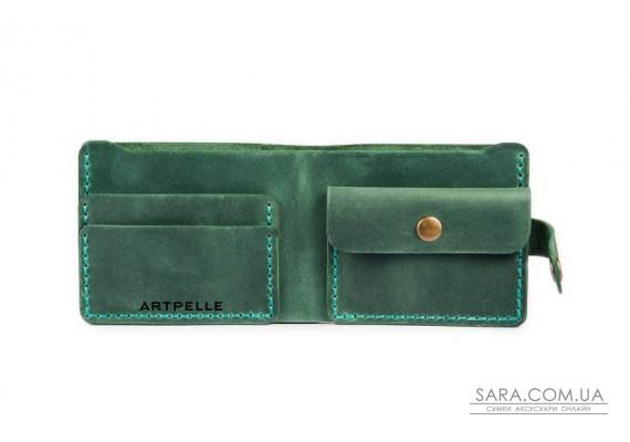 Шкіряний жіночий гаманець Compact зелений Art Pelle