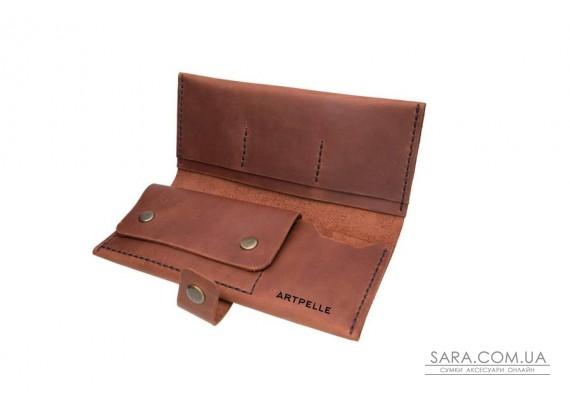 Шкіряний гаманець Biggy коньяк Art Pelle