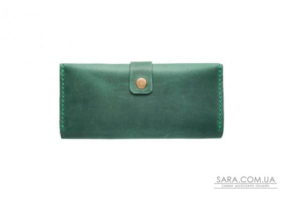 Шкіряний гаманець Biggy зелений Art Pelle