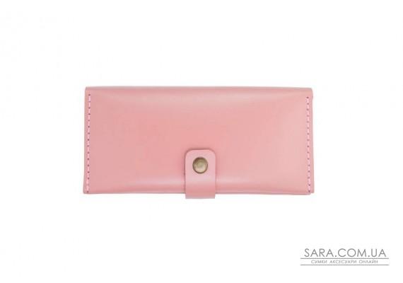 Шкіряний гаманець Biggy рожевий Art Pelle