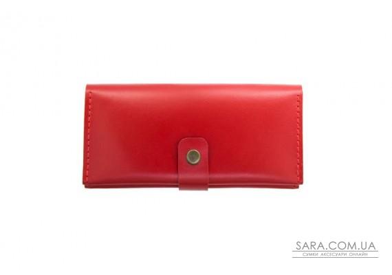 Шкіряний гаманець Biggy червоний Art Pelle