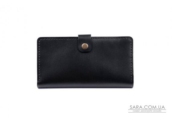 Шкіряний чоловічий гаманець Macho чорний Art Pelle
