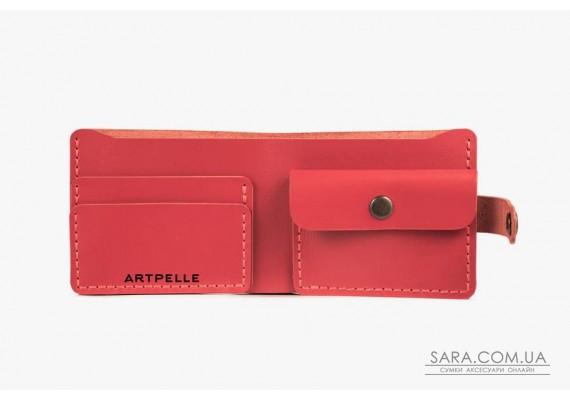Шкіряний жіночий гаманець Compact червоний Art Pelle