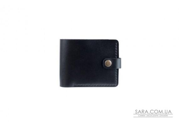 Шкіряний чоловічий гаманець Compact чорний Art Pelle