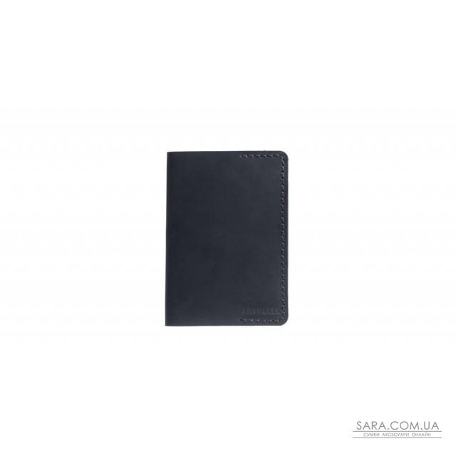 Обкладинка для паспорта чорна Crazy Horse Art Pelle