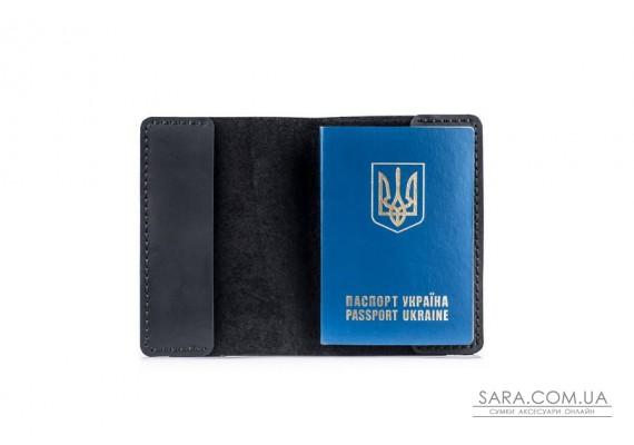 Обкладинка для паспорта чорна Art Pelle Crazy Horse