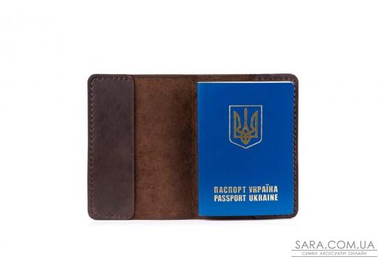 Обкладинка для паспорта шоколад Art Pelle