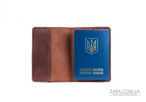 Обкладинка для паспорта коньяк Art Pelle