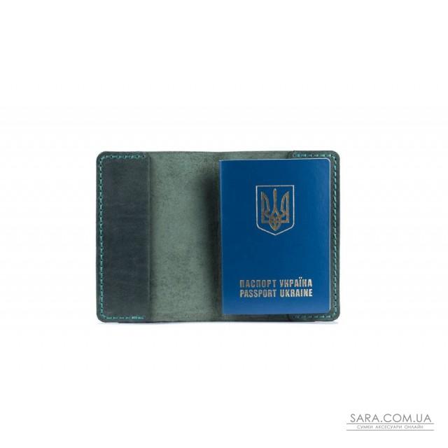 Обкладинка для паспорта зелена Art Pelle