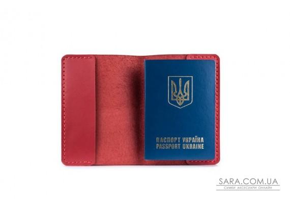 Обкладинка для паспорта червона Art Pelle