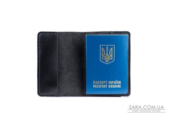 Обкладинка для паспорта чорна Art Pelle