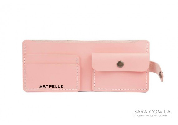 Шкіряний жіночий гаманець Compact рожевий Art Pelle