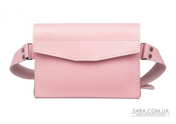 Поясная сумка - бананка Frendy розовая Art Pelle