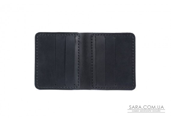 Шкіряний чоловічий гаманець Slim чорний Art Pelle Crazy Horse