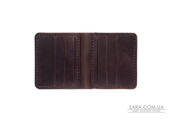 Шкіряний чоловічий гаманець Slim шоколад Art Pelle