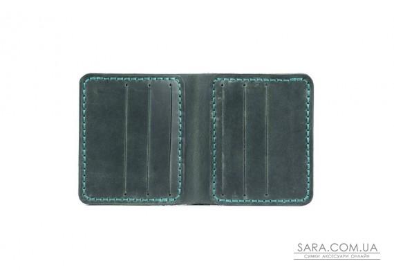 Шкіряний чоловічий гаманець Slim зелений Art Pelle