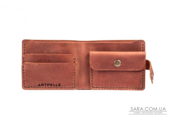 Шкіряний чоловічий гаманець Compact коньяк Art Pelle