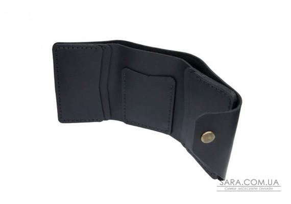 Шкіряний жіночий гаманець Triple чорний Art Pelle Crazy Horse