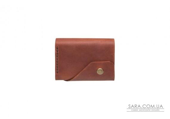 Шкіряний жіночий гаманець Triple коньяк Art Pelle