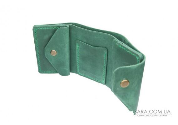 Шкіряний жіночий гаманець Triple зелений Art Pelle