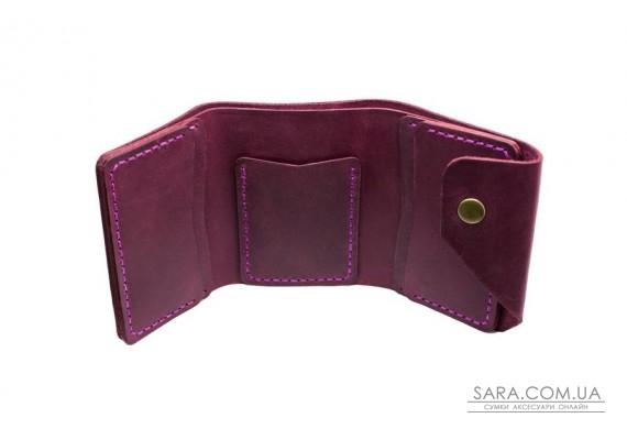 Шкіряний жіночий гаманець Triple марсала Art Pelle