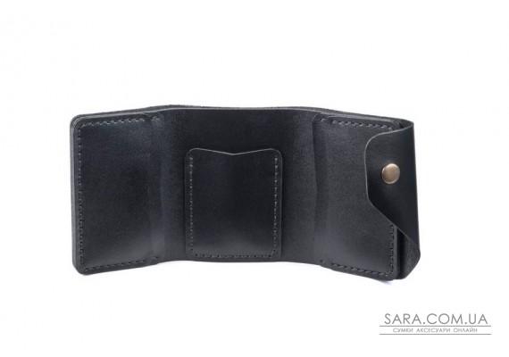 Шкіряний жіночий гаманець Triple чорний Art Pelle