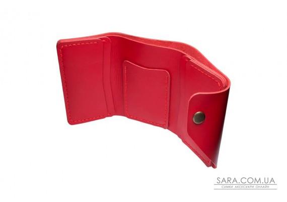 Шкіряний жіночий гаманець Triple червоний Art Pelle
