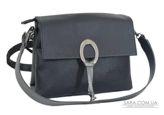 645 сумка чорна срібло Lucherino