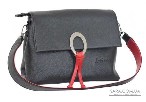 645 сумка чорна червона Lucherino