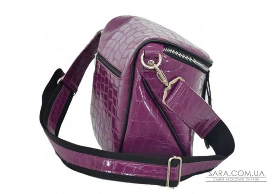 603 сумка крокодил фіолетовий Lucherino