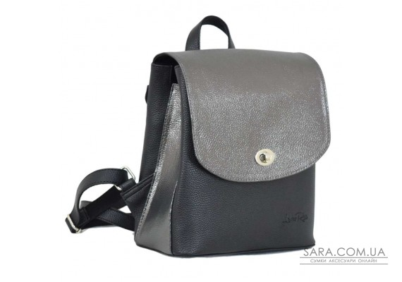 646 рюкзак чорна срібло Lucherino
