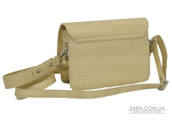 636 сумка крокодил беж Lucherino