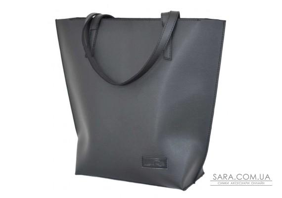 641 сумка шкіра чорна Lucherino