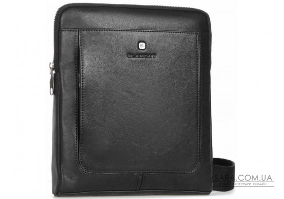 Функуціональна сумка через плече чоловіча шкіряна Blamont P7912031