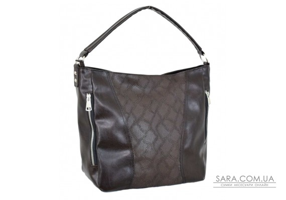 616 сумка питон коричневая Lucherino