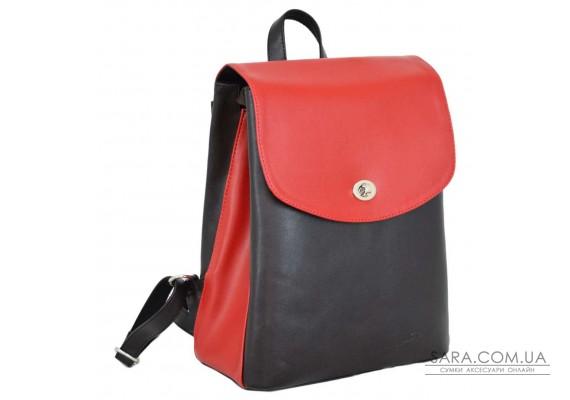 647 рюкзак коричневий червоний Lucherino
