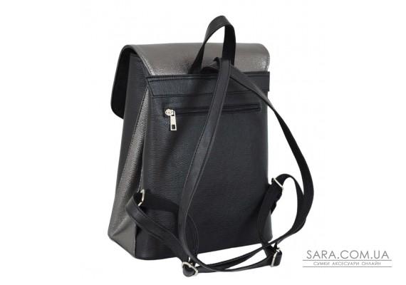 647 рюкзак чорний срібло Lucherino