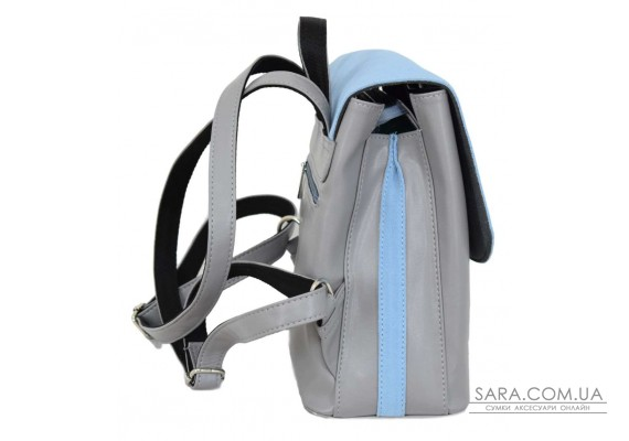 646 рюкзак замш сірий блакитний Lucherino