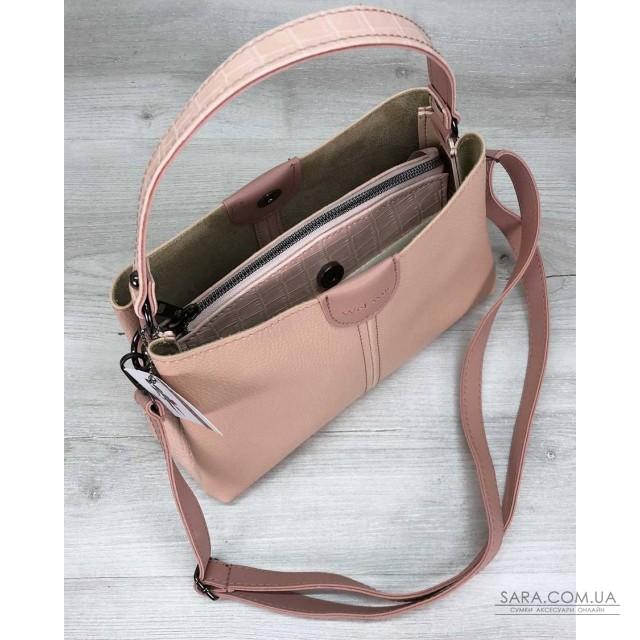 Жіноча сумка Іліна пудра WeLassie дешево
