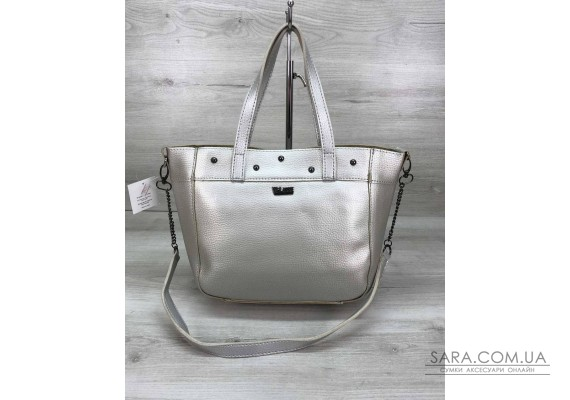 Женская сумка Дарина с шипами серебро WeLassie