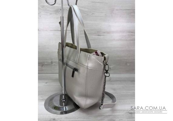 Жіноча сумка Дарина з шипами срібло WeLassie